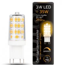 Лампа Gauss LED G9 AC185-265V 3W 2700K диммируемая