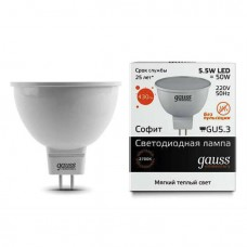 Лампа Gauss LED Elementary MR16 GU5.3 5.5W 2700К