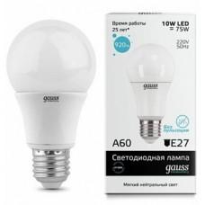 Лампа Gauss LED Elementary A60 10W E27 4100K