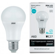 Лампа Gauss Elementary LED A60 20W E27 4100K