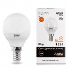 Лампа Gauss LED Elementary Globe 6W E14 2700K