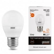 Лампа Gauss LED Elementary Globe 6W E27 2700K