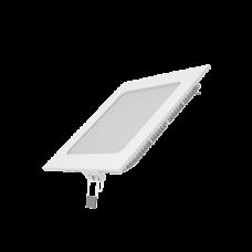 Светодиодный встраиваемый светильник Gauss ультратонкий квадратный IP20 9W 2700K