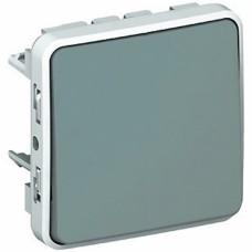 Однополюсный переключатель на два направления Plexo серый 10 AX