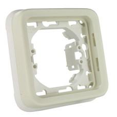 Суппорт с рамкой для встроенного монтажа Plexo белый 1 пост