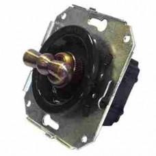 Выключатель 2-х позиционный для внутреннего монтажа проходной черный Salvador