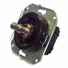 Выключатель 2-х позиционный для внутреннего монтажа проходной коричневый Salvador