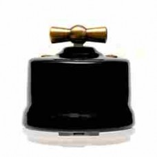 Выключатель 2-х позиционный для наружного монтажа проходной графит Salvador