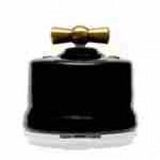 Выключатель 4-х позиционный для наружного монтажа оконечный (Двухклавишный) графит Salvador