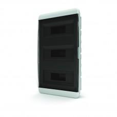 Щит встраиваеный 36 мод. IP40, прозрачная черная дверца