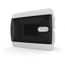 Щит встраиваеный 6 мод. IP40, прозрачная черная дверца