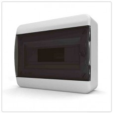 Щит навесной 12 мод. IP40, прозрачная черная дверца